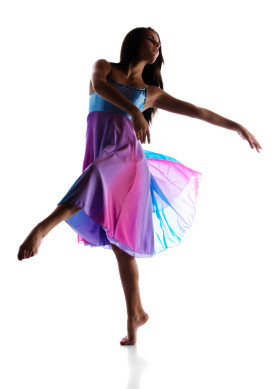 Female modern dancer